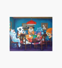 Video Game Dogs Playing Poker Art Board