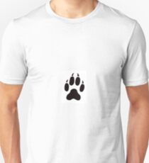 Big Cat Cougar Paw Print Unisex T-Shirt