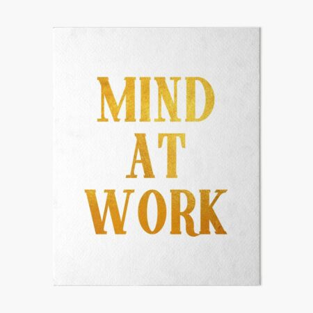 Mind at Work inspired by Angelica Schuyler from Hamilton Art Board Print