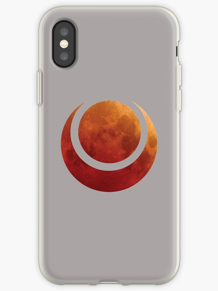 Blood Moon Symbol Iphone Cases Covers By Luke Paccione Redbubble