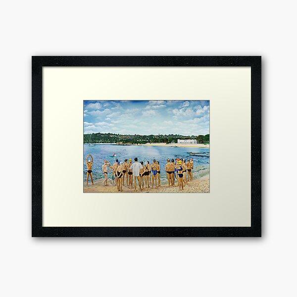 The Swimming Club Framed Art Print