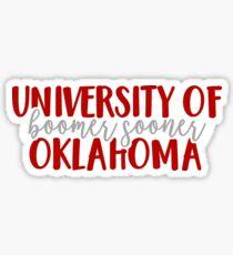 University of Oklahoma - Boomer Sooner Sticker