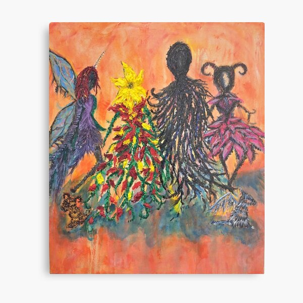 Creature Family Portrait Metal Print