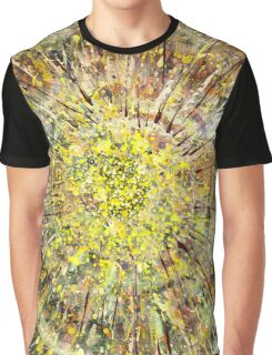 Yellow Abstract Painting Graphic T-Shirt