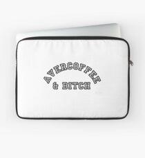 AVERCOFFEE & BITCH: Black logo Laptop Sleeve