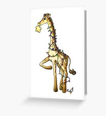 Shiny Giraffe Greeting Card