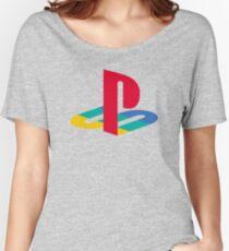 Camiseta ancha para mujer consola de juegos retro