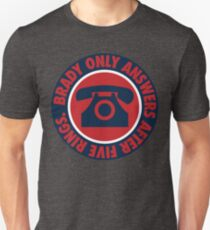 Brady Only Answers After Five Rings (Navy/Red/Navy) T-Shirt
