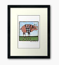 Stilt pig Framed Print