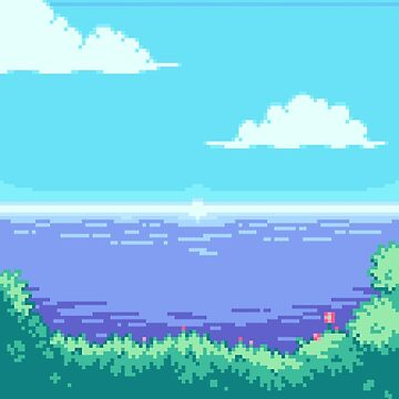 Image result for pixel art ocean