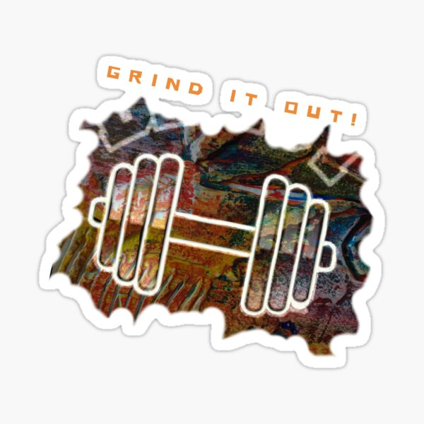 FITNESS WEIGHTS WORKOUT - GRIND IT OUT Sticker
