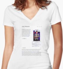 Andy Mientus Wikipedia Women's Fitted V-Neck T-Shirt