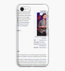 Andy Mientus Wikipedia iPhone Case/Skin