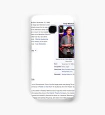 Andy Mientus Wikipedia Samsung Galaxy Case/Skin
