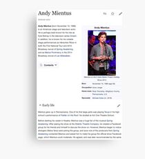 Andy Mientus Wikipedia Canvas Print