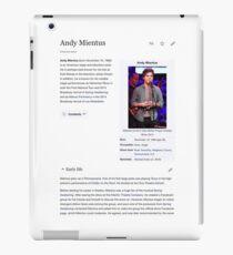 Andy Mientus Wikipedia iPad Case/Skin