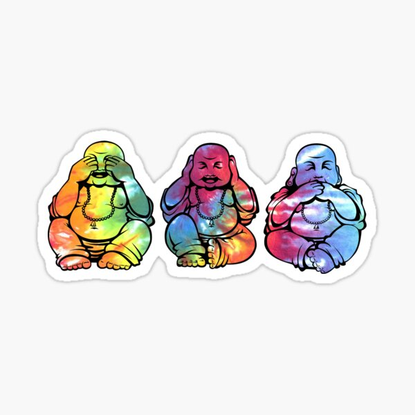Buddhas: See no, Hear no, Speak no evil 2 Sticker