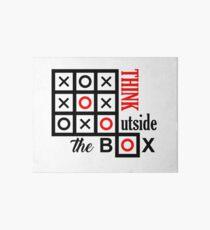 Lámina de exposición pensar fuera de la caja