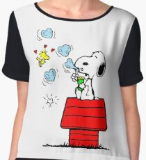 Snoopy and Woodstock Women's Chiffon Top
