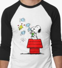 Snoopy and Woodstock Men's Baseball ¾ T-Shirt