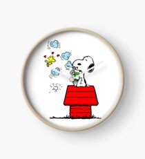 Snoopy and Woodstock Clock