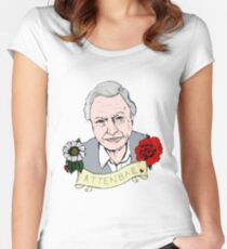 David Attenborough - AttenBae in Farbe Tailliertes Rundhals-Shirt