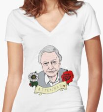 David Attenborough - AttenBae in Colour Women's Fitted V-Neck T-Shirt