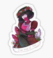 Flower Crown Garnet Sticker