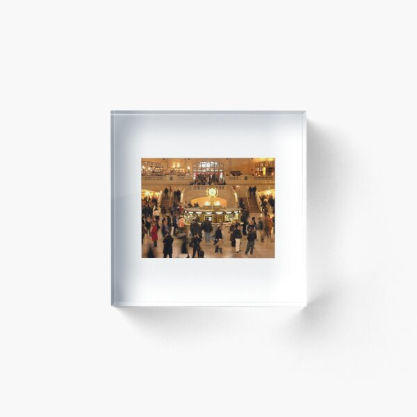 Grand Central Station Acrylic Block