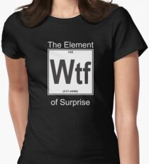 Wtf Element Surprise Womens Fitted T-Shirt