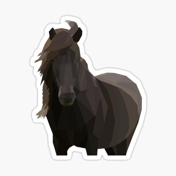 Low Poly Icelandic Horse Sticker