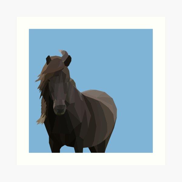 Low Poly Icelandic Horse Art Print