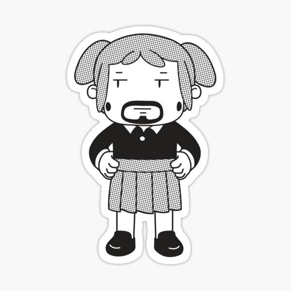 Beardy Dell Sticker