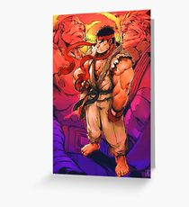 Street Fighter - Ryu Greeting Card