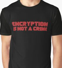 MR. ROBOT Encryption is not a Crime Graphic T-Shirt