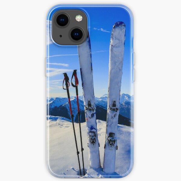 Scène de montagne de ski Coque souple iPhone