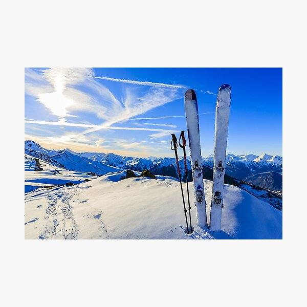 Ski Mountain Scene Photographic Print