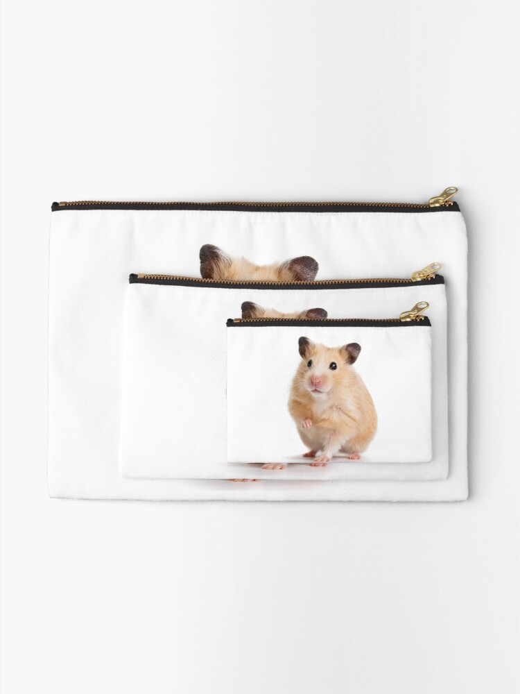 Alternate view of Cute Hamster Rodent  Zipper Pouch