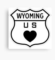 Wyoming US Highway love Canvas Print
