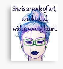 Lady art Canvas Print
