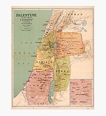 Map of Palestine in the Time of Christ (to 70 A.D.) Photographic Print