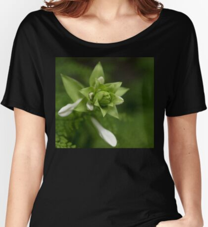 A Little Green and White Women's Relaxed Fit T-Shirt