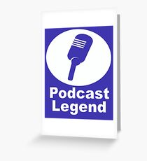 Podcast legend radio host Greeting Card