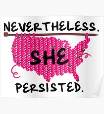 Nevertheless she persisted USA Poster