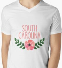 University of South Carolina Mens V-Neck T-Shirt