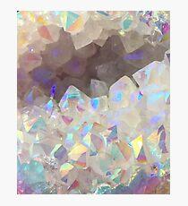 Iridescent Aura Crystals Photographic Print