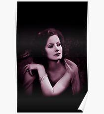 Greta Garbo vintage color Poster