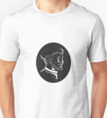 Jacques Cartier French Explorer Oval Woodcut Unisex T-Shirt