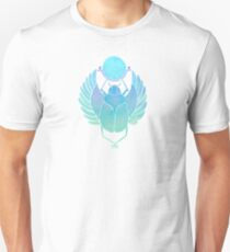 Egyptian Scarab – Turquoise Ombré Unisex T-Shirt
