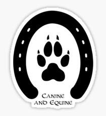 Horse shoe and canine paw print Sticker